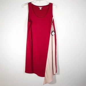 Halogen Dress Shift Dress Asymmetrical Hem